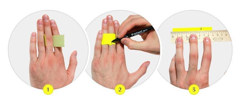 Как узнать размер пальца с помощью линейки?