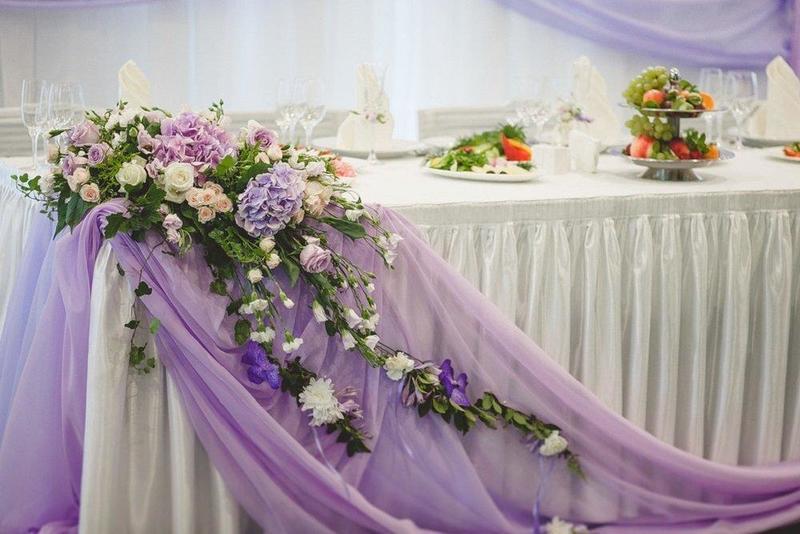 Оформление свадебного зала, советы по украшению банкетного зала на свадьбу